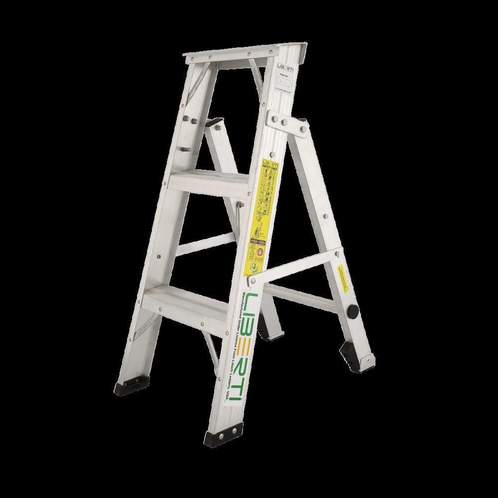 3′ Liberti Aluminium Flip- Up( Combination) steps ladder