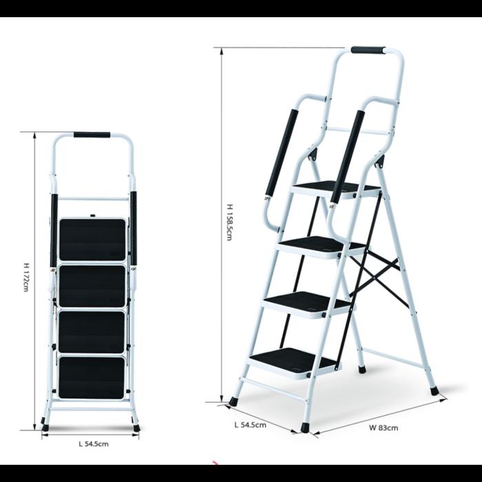 Liberti Robust 4 Step Steel Ladder with Premium Handrial