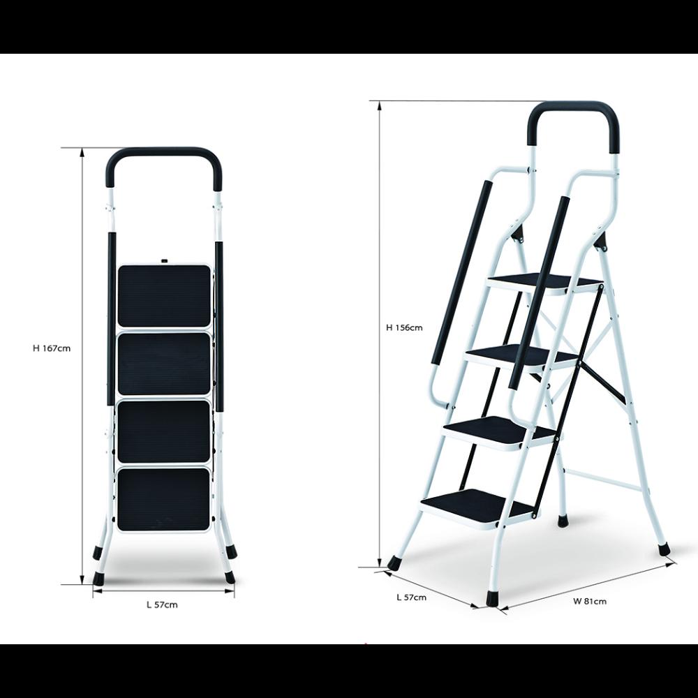Liberti Robust 4 Step Steel Ladder with Premium Handrail