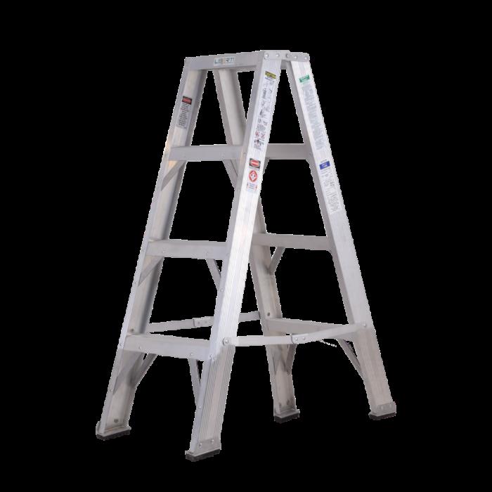 4'Liberti Heavy Duty Aluminium Twin Step Ladder